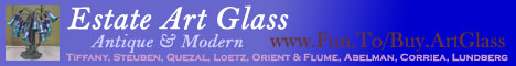 Dedicated to collecting Antique, Vintage and Modern Tiffany, Steuben, Quezal, Loetz, Orient & Flume, Abelman, Corriea, and Lundberg Art Glass from 1900 - 2006. History/education pages, as well as artglass for sale. We Buy, We Sell, We Trade!