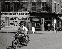 Old Army Navy Surplus Storefront - King Street, Alexandria, VA, 1921