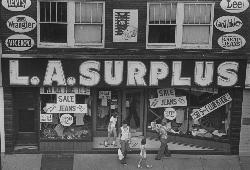 Old Army Navy Surplus Storefront - L.A. Surplus, Market Street