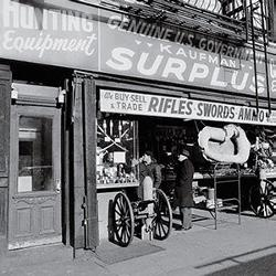Old Army Navy Surplus Storefront - Kaufman Surplus, Manhattan, NY