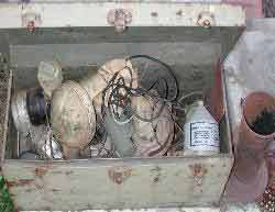 Fuel Filters, B/O marker lights, and other rare W.W.II collectibles.
