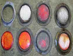 WWII Jeep Round Reflectors ~ WW2 MB GPW Jeep