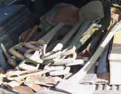 Bundles of WWII Jeep Shovels and Axes ~ WW2 MB GPW Jeep