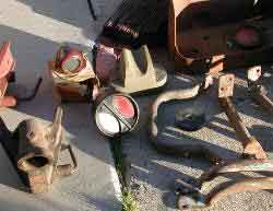 Willys MBT Jeep trailer, F Ford GPW, and Ford GP Prototype Parts
