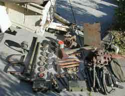 MA, T-1 Air Compressor, other rare WWII Willys, Ford, and Bantam Jeep parts