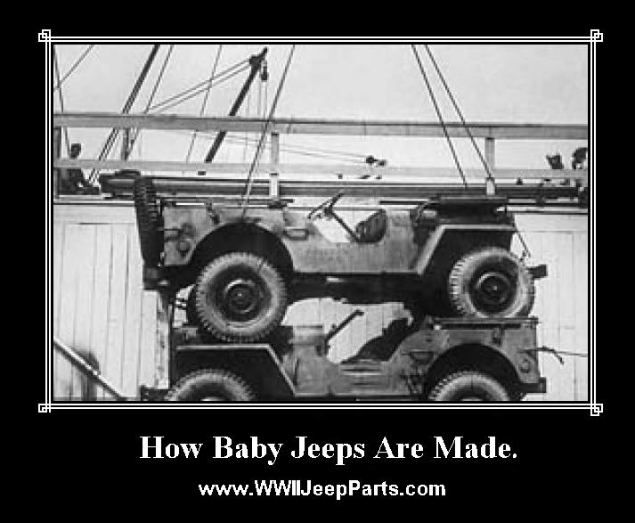 This explains the little jeep pedal cars you sometimes see...