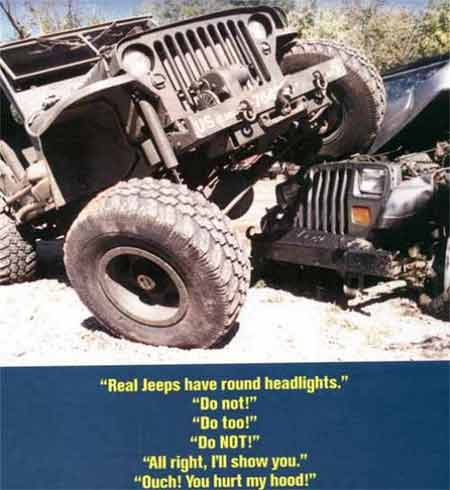 Real Jeeps have Round Headlights