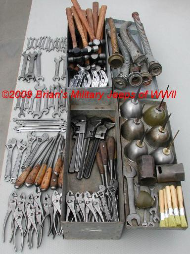 WWII JEEP MB/GPW TOOL KIT TOOLS ★ FORD GPW ★ WILLYS MB ...