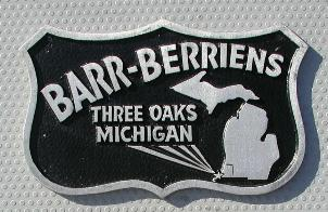 NOS 'Barr-Berriens' Three Oaks, MI car club plaque