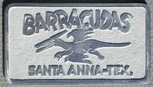 NOS 'Barracudas' Santa Anna, Texas car club plaque