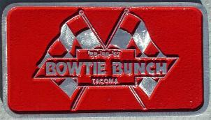 NOS ''55 '56 '57 Bowtie Bunch' Tacoma, WAO car club plaque