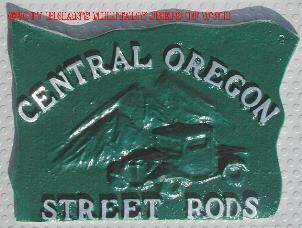 NOS 'Central Oregon Street Rods' car club plaque