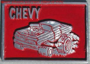 NOS 'Chevys' car club plaque
