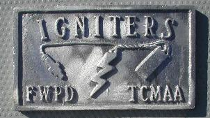 NOS 'Igniters' Fort Worth, TX car club plaque