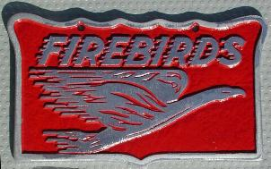 NOS 'Firebirds' car club plaque