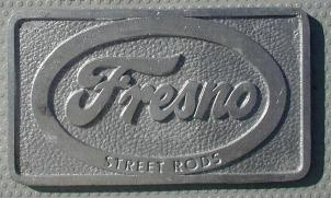NOS 'Fresno Street Rods' Fresno, CA car club plaque