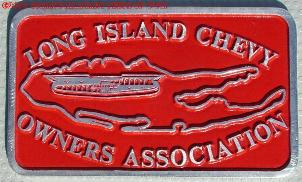 NOS 'Long Island Chevy Owners Association' Long Island, New York, NY car club plaque