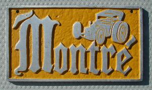 NOS 'Montre'' Montreal, Canada car club plaque