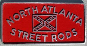 NOS 'North Atlanta Street Rods' Atlanta, GA car club plaque