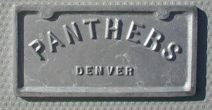 NOS 'Panthers' Denver, CO car club plaque