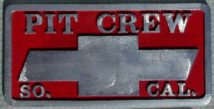 NOS 'Pit Crew' So. Cal. car club plaque