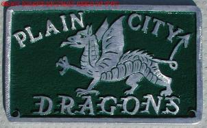 NOS 'Plain City Dragons' Plain City, Ohio car club plaque
