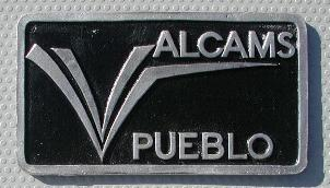 NOS 'ALCAMS' Pueblo, CO car club plaque