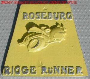 NOS 'Roseburg Ridge Runner' Roseburg, OR car club plaque