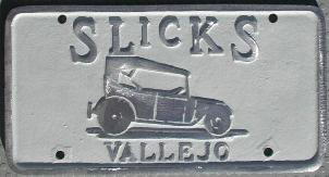 NOS 'Slicks' Vallejo, CA car club plaque