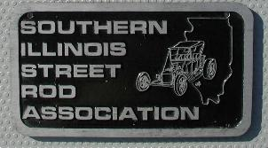 NOS 'Southern Illinois Street Rod Association' car club plaque