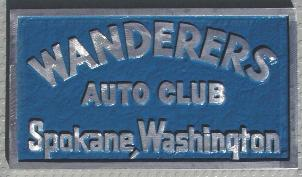 NOS 'Wanderers Auto Club' Spokane, WA car club plaque