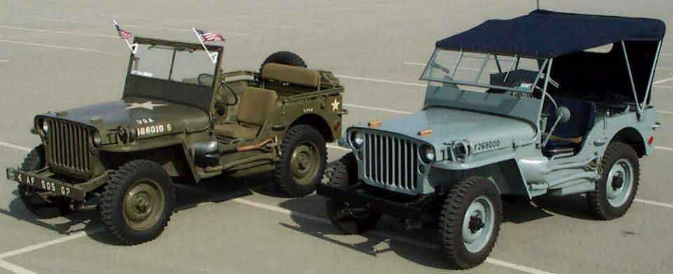 Picture Of Ww2 G503 Jeep With Outer Windshield Frame Raised Inner Open
