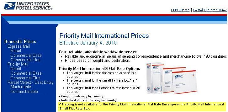 The USPS will not sell tracking / delivery confirmation on the cheaper Flat Rate methods of shipping.