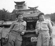 1941 Canadian License Plate in use on a British/Canadian Vickers Mk VI Light Tank at Camp Borden, Ontario, Canada