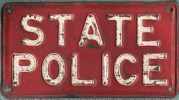 1945 Connecticut State Police Restamped License Plate