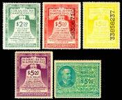 1942 - 1946 US Federal Use Tax Stickers