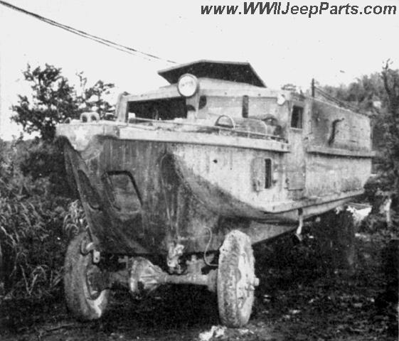 The JAPANESE AMPHIBIAN TRUCK - One of several captured at Tinian by the USMC.