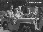 Second Jeep: Driver, Dara Singh, Passenger, Sgt. Paul Gish, Rear seat, Pfc. Myles A. Schauer, Chinese soldier, unknown.
