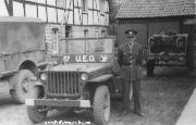 A Willys MB belonging to the 49th Infantry Division UEO