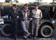 Pilots from the 322nd Bomb Group, 9th AAF pose with their jeep. The 322nd was stationed at RAF Great Saling in Essex in 1943 - 1944.