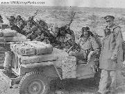 British SAS - Special Air Service - with their highly modified WWII Jeeps.