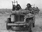 British SAS - Special Air Service - Jeep loaded with Machine Guns, Gas Cans, and a Radiator Surge Tank.