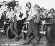 MB/GPW Jeeps assigned to these medics in Germany, March, 1945.