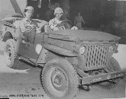 Bill Mauldin in his Jeep Up Front at age 23 in Rome.Italy.
