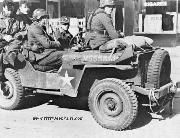 American Jeep captured by German soldiers.