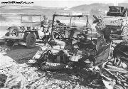 Whats left of an MB/GPW Jeep destroyed at Chaumont, Belgium.