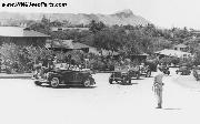 Jeeps following President Franklin D. Roosevelt as he visits Hawaii: