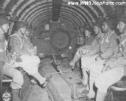 Interior of the C-47 cargo airplane.