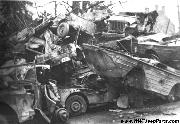 WWII Jeep Junk Yard. GPA's, Jeeps, and Jeep Trailers in heaps