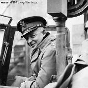 General Eisenhower in a jeep visiting front lines November 29, 1944. Notice M-31C Pedestal mount with Data Plate, Traveling Arm, Ready Box, and early M1919 Cradle.